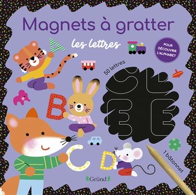 Magnets à gratter : les lettres
