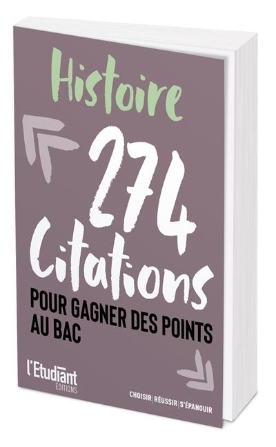 Histoire : 274 citations pour gagner des points au bac