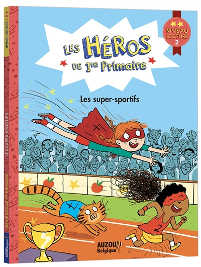Les héros de 1re primaire. Les super-sportifs : niveau lecture 2