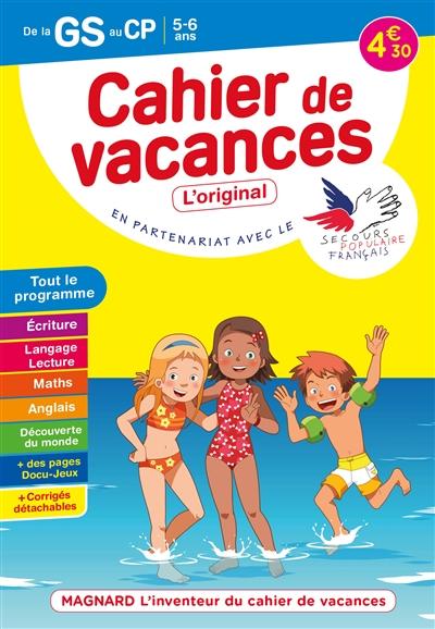Cahier de vacances de la GS au CP, 5-6 ans : tout le programme