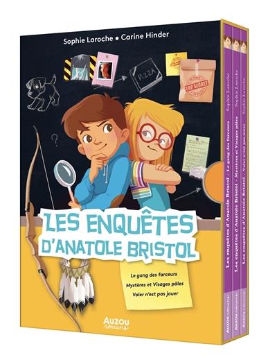 Les enquêtes d'Anatole Bristol : coffret bibliothèque tomes 1, 2, 3