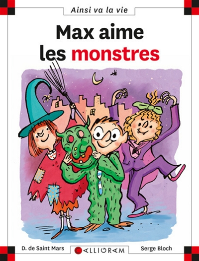 Max aime les monstres / Dominique de Saint Mars   Saint-Mars, Dominique de (1949-....). Auteur