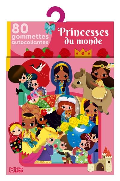 Princesses du monde : 80 gommettes autocollantes