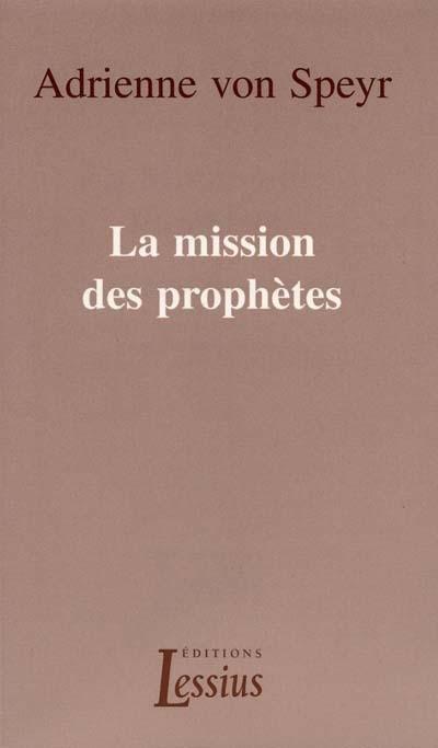 La mission des prophètes