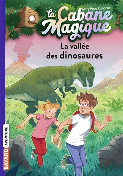 Couverture de : La cabane magique v.1, La vallée des dinosaures