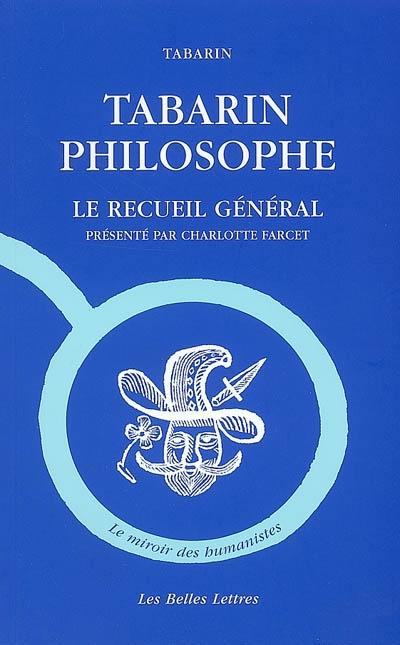 Tabarin philosophe : le recueil général