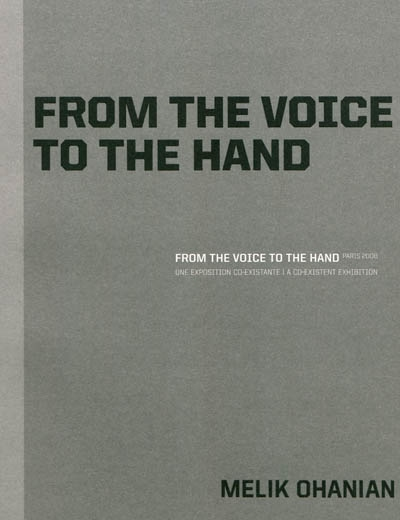 From the voice to the hand : Paris, 2008 | During, Elie
