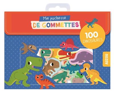 Ma pochette de gommettes : 100 dinosaures