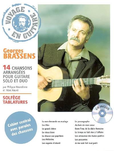 Georges Brassens : 14 chansons arrangées pour guitare solo et duo