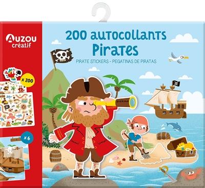 Pirates : 200 autocollants. Pirates stickers. Pegatinas de piratas