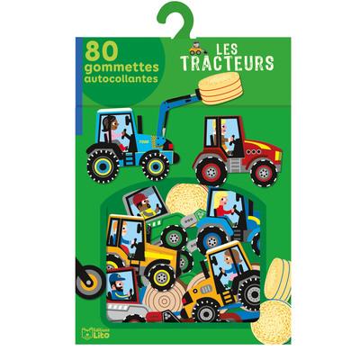 Les tracteurs : 80 gommettes autocollantes