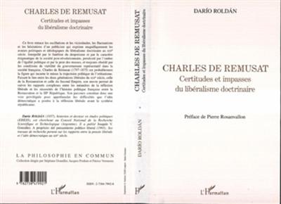 Charles de Rémusat : certitudes et impasses du libéralisme doctrinaire