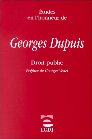 Etudes en l'honneur de Georges Dupuis : droit public