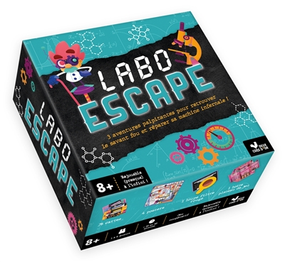 Labo escape : 3 aventures palpitantes pour retrouver le savant fou et réparer sa machine infernale !