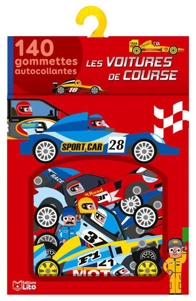 Les voitures de course : 140 gommettes autocollantes