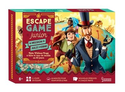 Mission Jules Verne : escape game junior : aide Phileas Fogg à faire le tour du monde en 80 jours