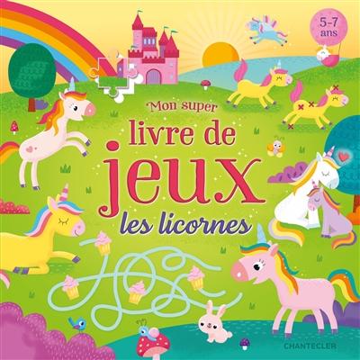 Livre de jeux avec les licornes