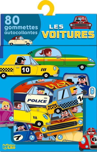 Les voitures : 80 gommettes autocollantes