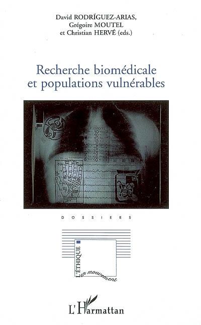 Recherche biomédicale et populations vulnérables