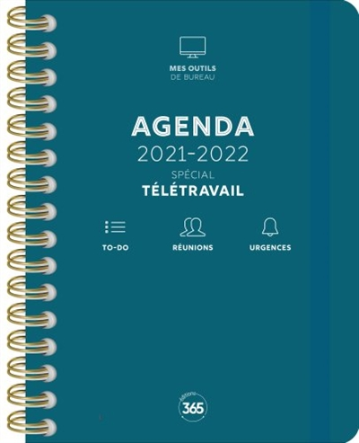 Agenda 2021-2022 : spécial télétravail