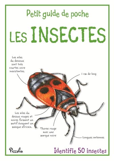 Les Insectes : identifie 50 insectes | De La Bédoyère, Camilla