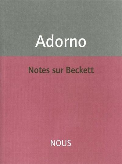 Notes sur Beckett