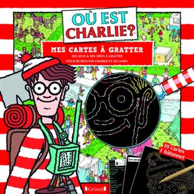 Où est Charlie ? : mes cartes à gratter : des jeux & des défis à gratter pour retrouver Charlie et ses amis !
