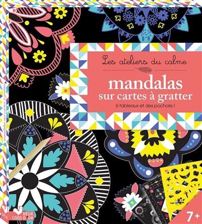 Mandalas sur cartes à gratter
