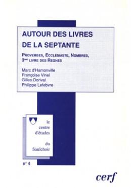 Autour des livres de la Septante : séminaire 1994-1995