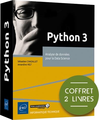 Python 3 : analyse de données pour la data science : coffret 2 livres