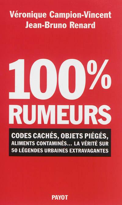 100 % rumeurs : codes cachés, objets piégés, aliments contaminés... : la vérité sur 50 légendes urbaines extravagantes