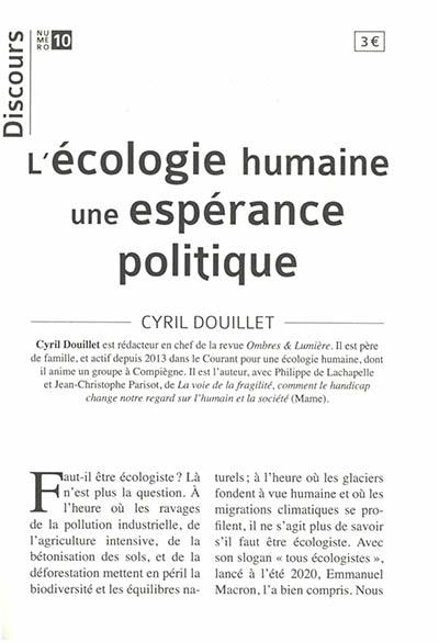 L'écologie humaine, une espérance politique