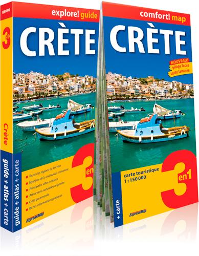 Crète : 3 en 1 : guide + atlas + carte / Piotr Jablonski | Jablonski, Piotr. Auteur