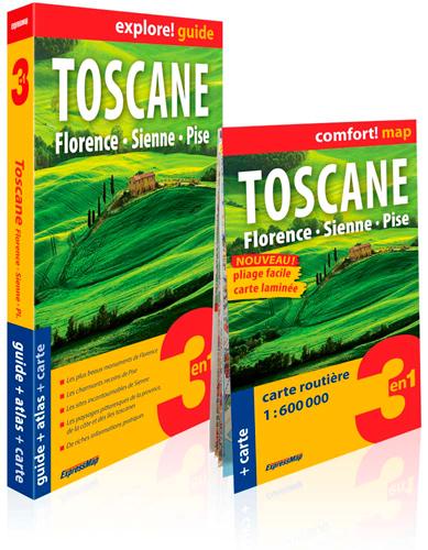 Toscane : Florence, Sienne, Pise : 3 en 1, guide + atlas + carte / Kamila Kowalska | Kowalska, Kamila. Auteur
