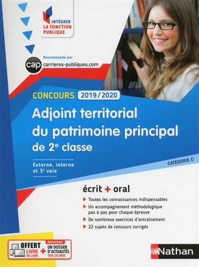 Adjoint territorial du patrimoine principal de 2e classe : concours 2019-2020 : catégorie C : externe, interne et 3e voie | Barris, Thomas. Auteur