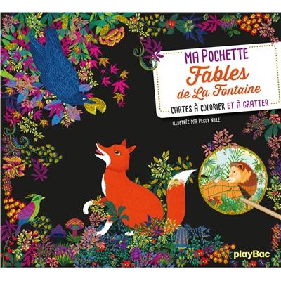 Ma pochette Fable de La Fontaine : cartes à colorier et à gratter