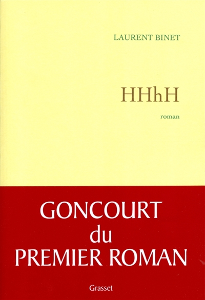 HHhH : roman / Laurent Binet   Binet, Laurent (1962?-....). Auteur