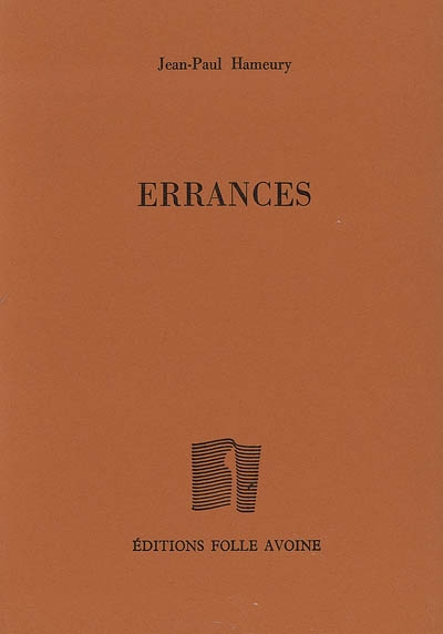 Errances / Jean-Paul Hameury | Hameury, Jean-Paul. Auteur