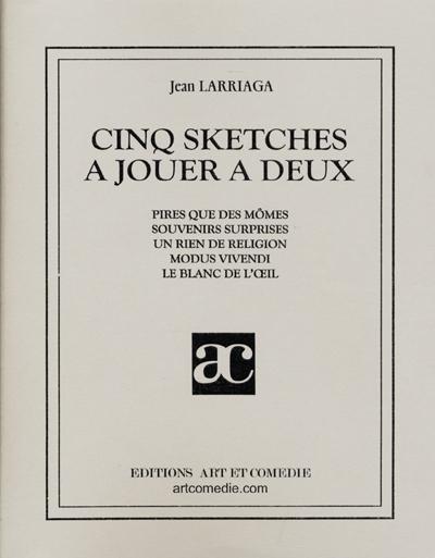 Cinq sketches à jouer à deux
