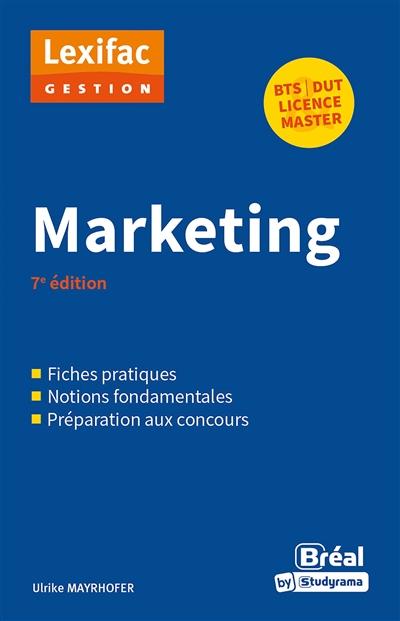 Marketing : BTS, DUT, licence, master