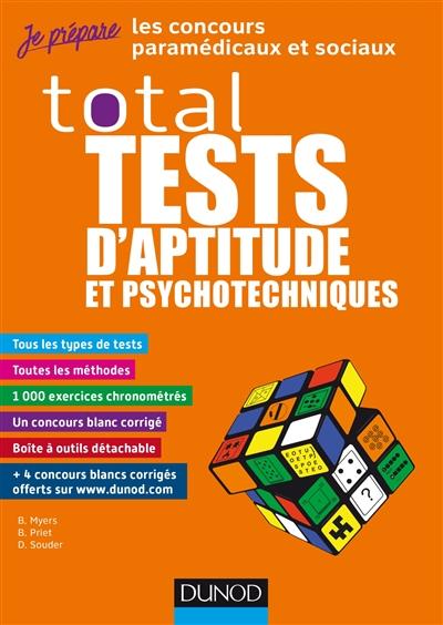Total tests d'aptitude et psychotechniques : les concours paramédicaux et sociaux
