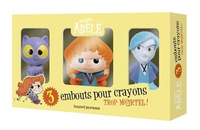 Mortelle Adèle : 3 embouts pour crayons : rentrée 2021