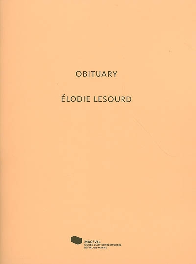 Obituary. Elodie Lesourd | Blanpied, Julien