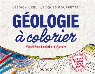 Géologie à colorier : 220 schémas à colorier et légender