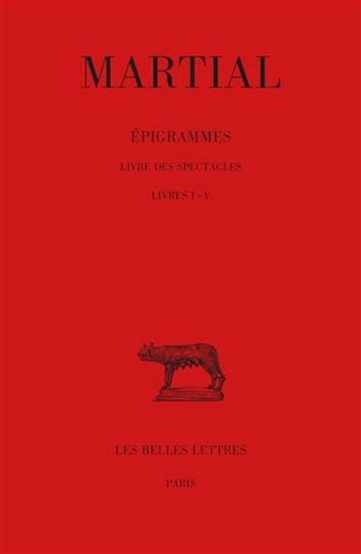 Epigrammes. Vol. 1