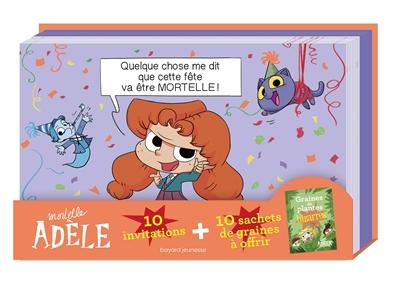 Mortelle Adèle : 10 invitations + 10 sachets de graines à offrir