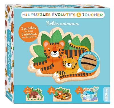 Mes puzzles évolutifs à toucher : bébés animaux