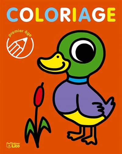 Coloriage premier âge : le canard