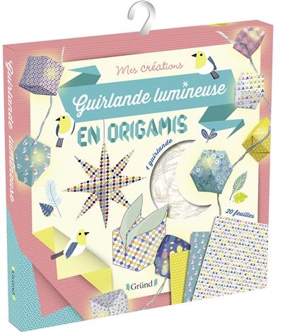 Guirlande lumineuse en origamis