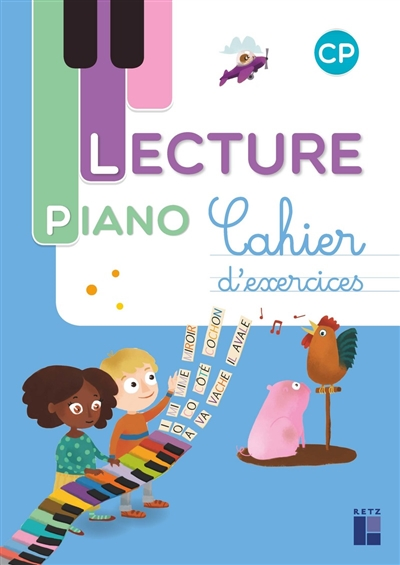 Lecture piano CP : cahier d'exercices